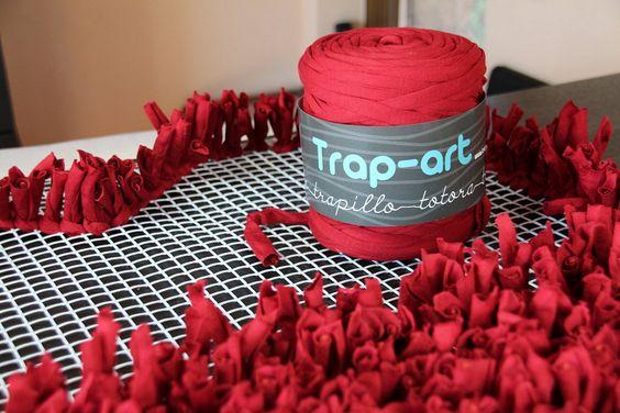Trapillo manualidades and blog on pinterest - Como hacer trapillo ...