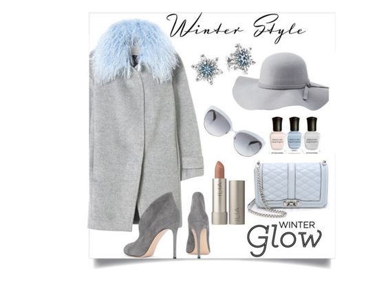 """Winter Glow"" by michellemibelle ❤ liked on Polyvore featuring Rebecca Taylor, Charlotte Russe, Post-It, Gianvito Rossi, Pandora, Rebecca Minkoff, Deborah Lippmann, Kate Spade and winteressentials"