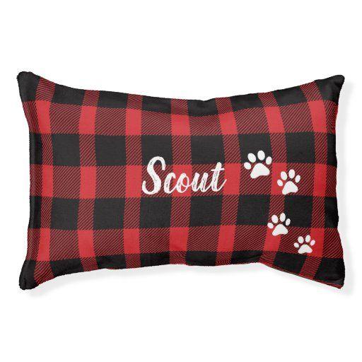 Buffalo Plaid Dog Bed Zazzle Com In 2020 Dog Bed Buffalo Plaid Best Dog Gifts