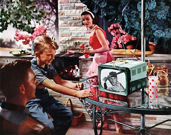 Admiral T105AL in two-tone Granada Green, 1956: Retro Televisions, Tv S Radio S, Family Advertisements, Television 1956, 1956 Admiral, Admiral Tv, Retro Vintage Items