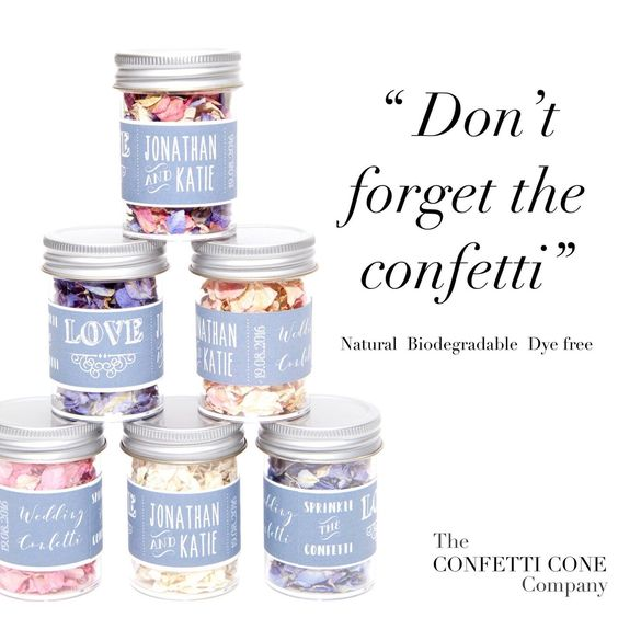 We are so excited to announce the launch of our confetti jars! £2 each. #weddingconfetti