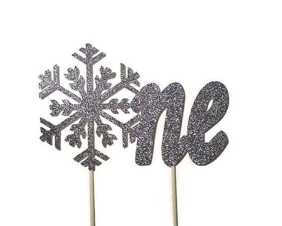 Onederland Cake Topper - Winter Wonderland Decorations