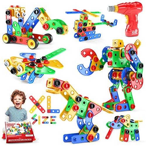 STEM Toys Gifts for Kids Dinosaur Marble Run Building Blocks Gear Toys Boys and Girls