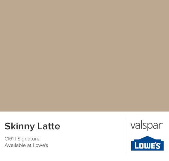 Valspar Latte And Skinny On Pinterest