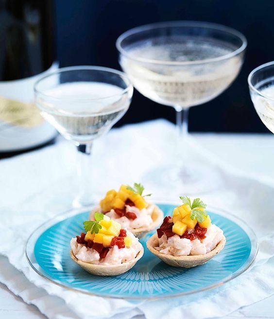 Crab and mango tarts |