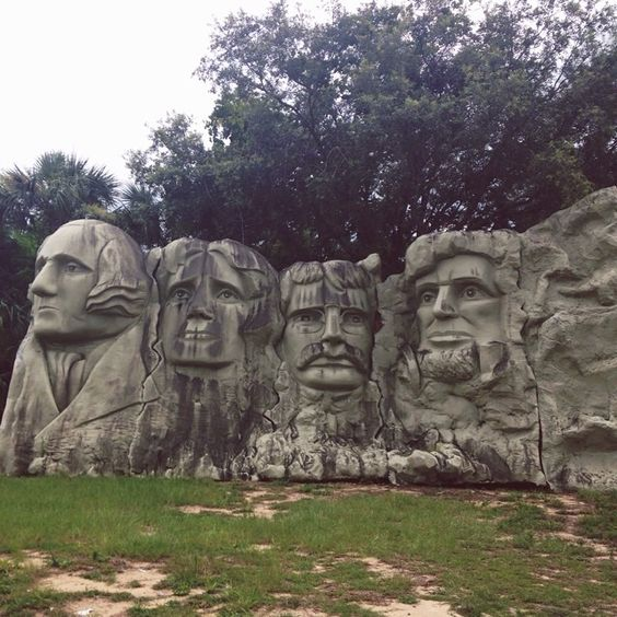 Attending a conference in a different city means finding little gems like this miniature Mount Rushmore! #marketcolors