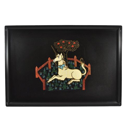 Vintage Couroc Tray | Vintage Couroc Resting Unicorn Tray available at The Hour and ...