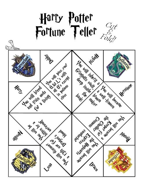 Harry Potter Fortune Tellers The Learning Curve Harry Potter Bday Harry Potter Activities Harry Potter Gifts