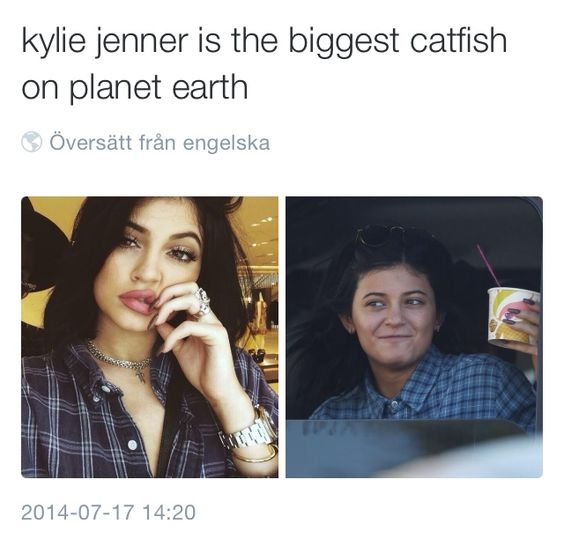 Here's why people clown Kylie, because she lied about enhancing somethings