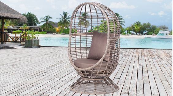 Coogee Outdoor Swivel Egg Chair | Lavita Furniture