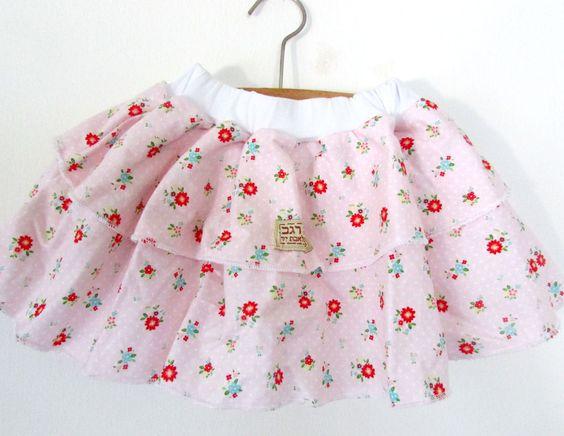 Girl Skirt Flower Fabric
