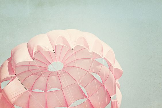 a pink parachute