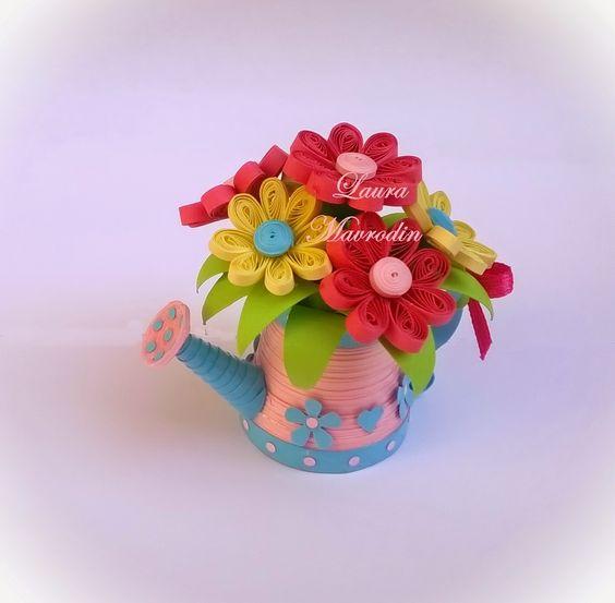 quilling my passion: Stropitoare cu flori