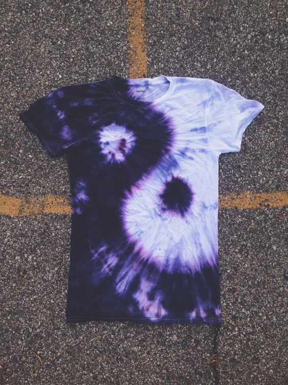 Yin Yang Tie Dye T Shirt Yin Yang Summer And The Purple