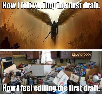 Drafting fiction is like parasailing. Revising is landing. Hard. See racheldacus.net for more Craft Tips.