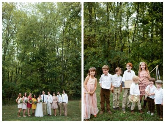 Outdoor Vintage Backyard Wedding