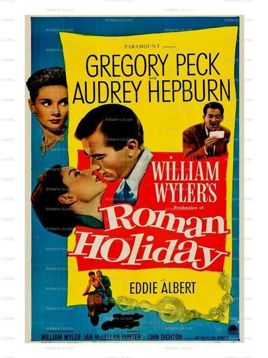 Roman Holiday Gregory Peck Audrey Hepburn 1953 Movie by nukes