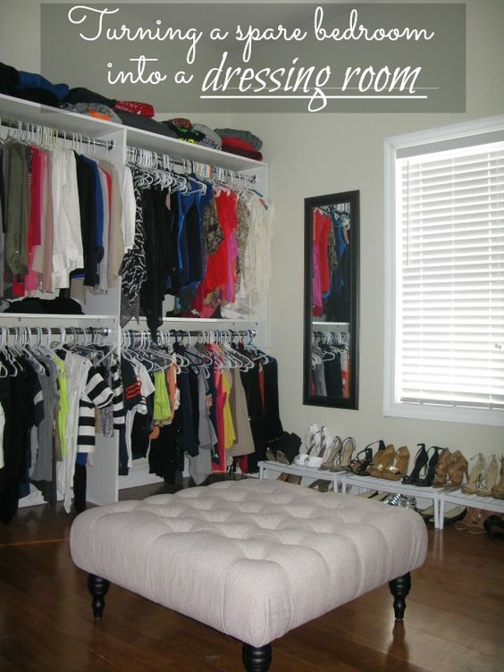 Love And Bellinis: Turning A Spare Bedroom Into A Dressing Room - need to do this...