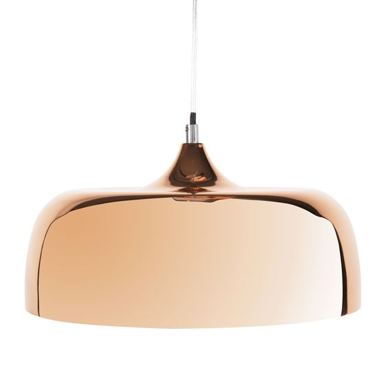 suspension en m tal cuivr d 32 cm copper dixie maison du. Black Bedroom Furniture Sets. Home Design Ideas