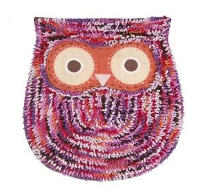 Cute Owl Multicoloured Fluffy Rug / Bath Mat. By Sass & Belle.  Visit our family business...The Ginger Sheep. £15.71