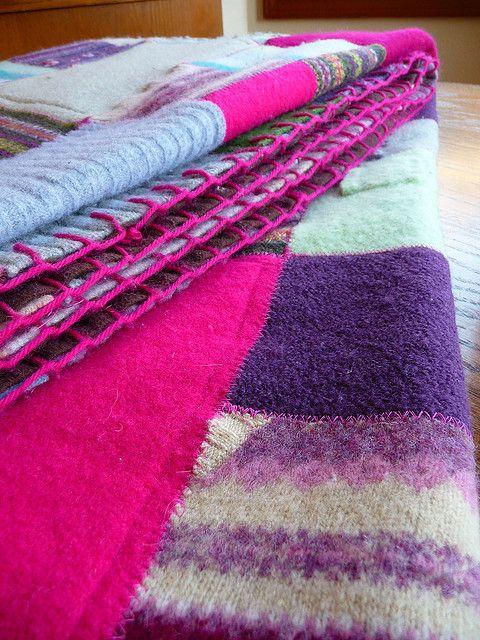 Sweater Blanket by nordyg1: Gorgeous!  #Sweater_Blanket #nordyg1