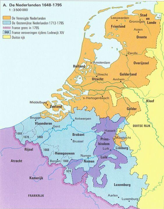 Geschiedenis Van Nederland Kartographie Geografie Landkarte