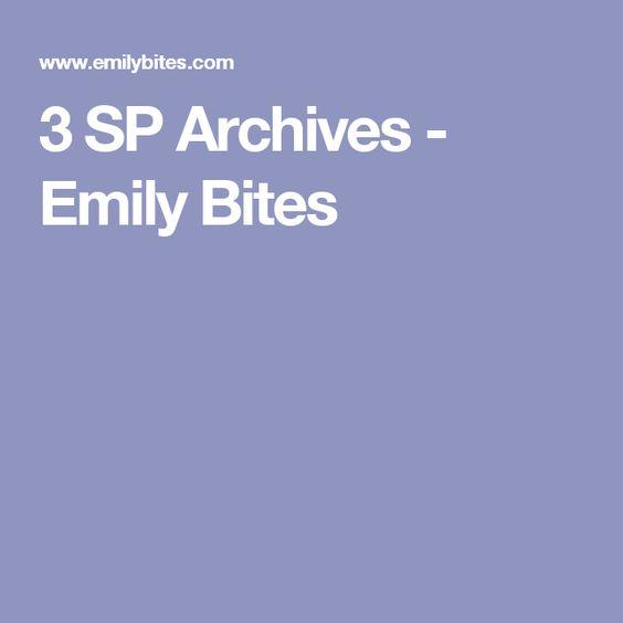 3 SP Archives - Emily Bites