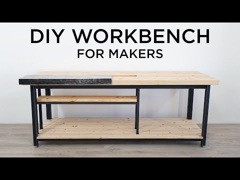 Ben Uyeda Of Homemade Modern Designed And Built This Split Top Workbench With A Removable Steel Top For Mor Homemade Modern Diy Workbench Building A Workbench