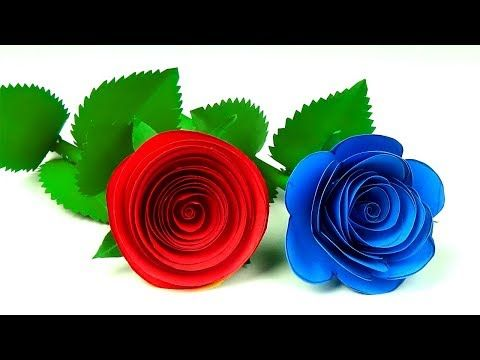 2 Beautiful Small Rose Flower With Paper Diy Paper Flowers Craft