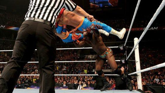 Titus O'Neal is freakishly strong! SummerSlam