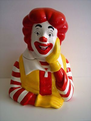 Kookie Jar Cake Designs : TREASURE CRAFT ADVERTISING RONALD MC DONALD COOKIE JAR ...