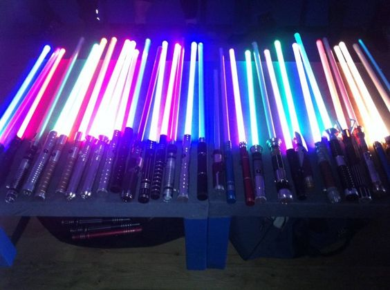 Lightsaber collection.