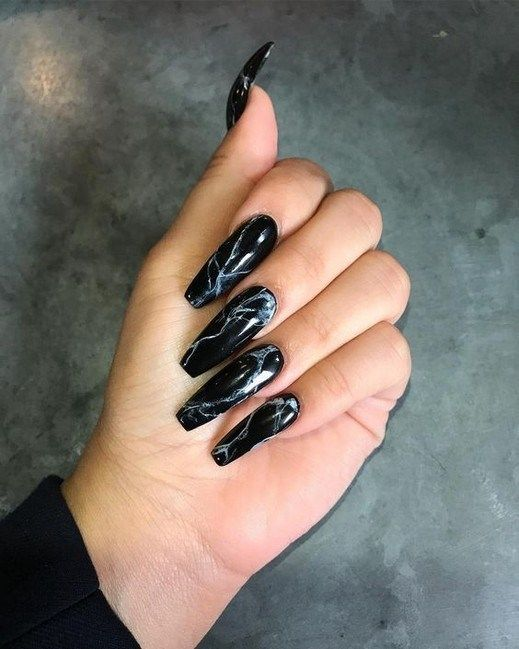 50 Matte Black Coffin Nail Ideas Trend This Year Coffinnail Nailarts Blackcoffin Tristarhomecareinc Co Black Nail Designs Black Nails Black Acrylic Nails