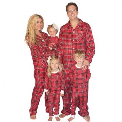 SleepytimePjs Family Matching Red Plaid Flannel Pajamas ...