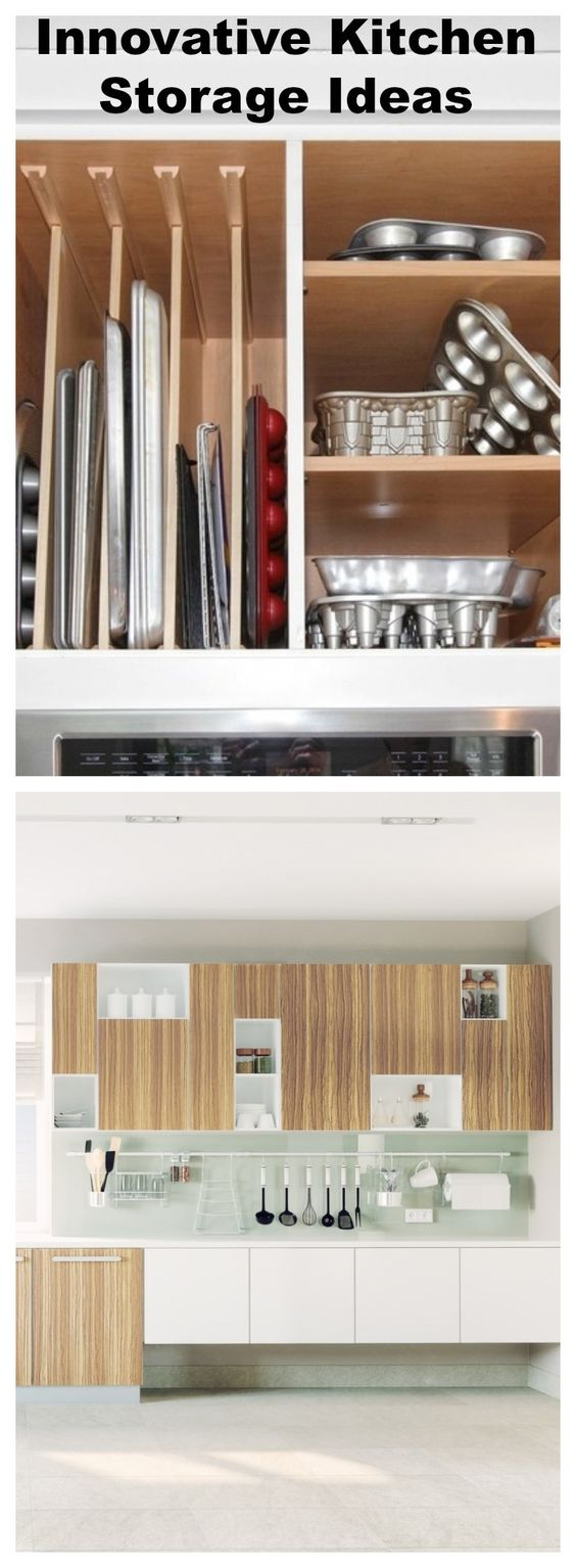 #Innovative #Kitchen #Storage Ideas #organization #diy #space #design