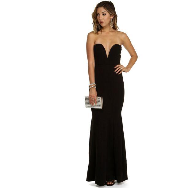 Sophia-Black Formal Dress