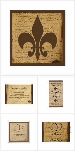 Vintage Fleur de Lis Love Letter Wedding