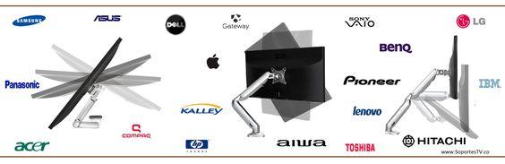 Soporte de brazo movil se adapta facilmente a cualquier mueble o escritorio la pantalla de su computador ,compatible con monitores lg samsung panasonic, hp.  http://blog.soportestv.co/soporte-ergonomico-en-aluminio-para-monitor-de-computador/