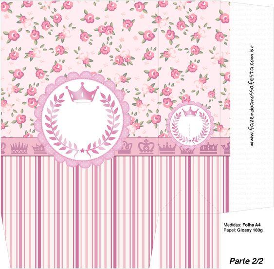 Sacolinha Surpresa Coroa de Princesa Rosa Floral - Parte 2
