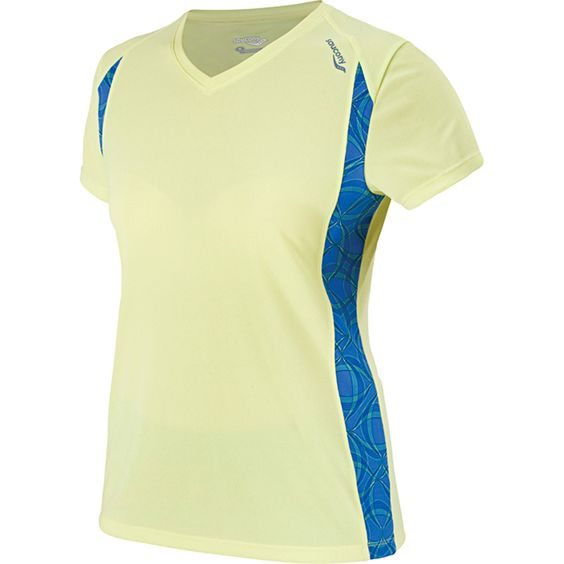 Saucony Women's Axion Printed Short Sleeve in ion