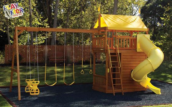 Wood Yard Kids Play Set Childrens Outdoor Playsets