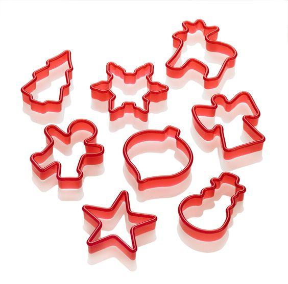 Lurch 10520 Ausstechformen Weihnachten 8-Teilig rot: Amazon.de: Küche & Haushalt