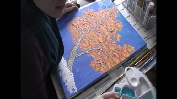 Diy Tree Art With Joint Compound Fabulous Video Tutorial Joint Compound Diy Wall Art