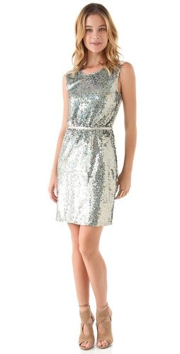 ONE by Erin Fetherston sequined sheath.