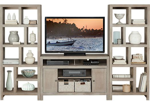 78eda95d6ca1d062f3b4ffab3b469fed wall units entertainment center cindy crawford home seaside white 5 pc wall unit $1,544 00 104w  at readyjetset.co