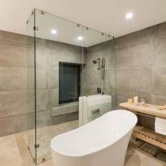 Baño principal: Baños de estilo Moderno por Juan Luis Fernández Arquitecto
