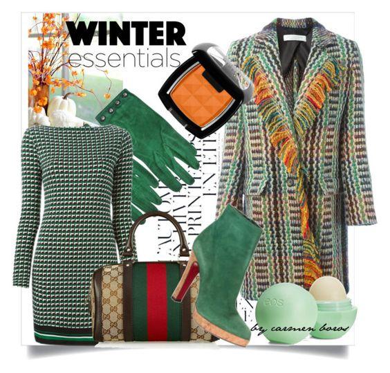 """winter essentials  ..."" by boroscarmen ❤ liked on Polyvore featuring Été Swim, Philosophy di Lorenzo Serafini, Hermès, MICHAEL Michael Kors, Gucci, Christian Louboutin and Eos"