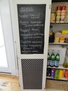 chalkboard paint inside kitchen cabinets