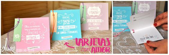 TARJETAS CON AMOR! Para decrile a Mamá cuánto la queremos! #obsequios #felices #felizdia #DiadelaMadre #diseño
