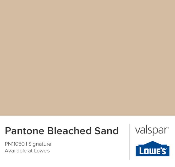 Pantone Bleached Sand From Valspar This Is A Great Color